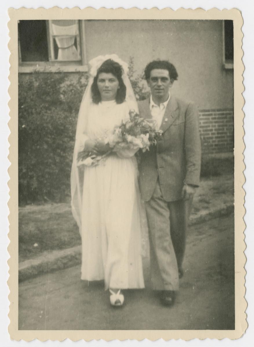 Wedding portrait of Anna and David Rosenzweig.