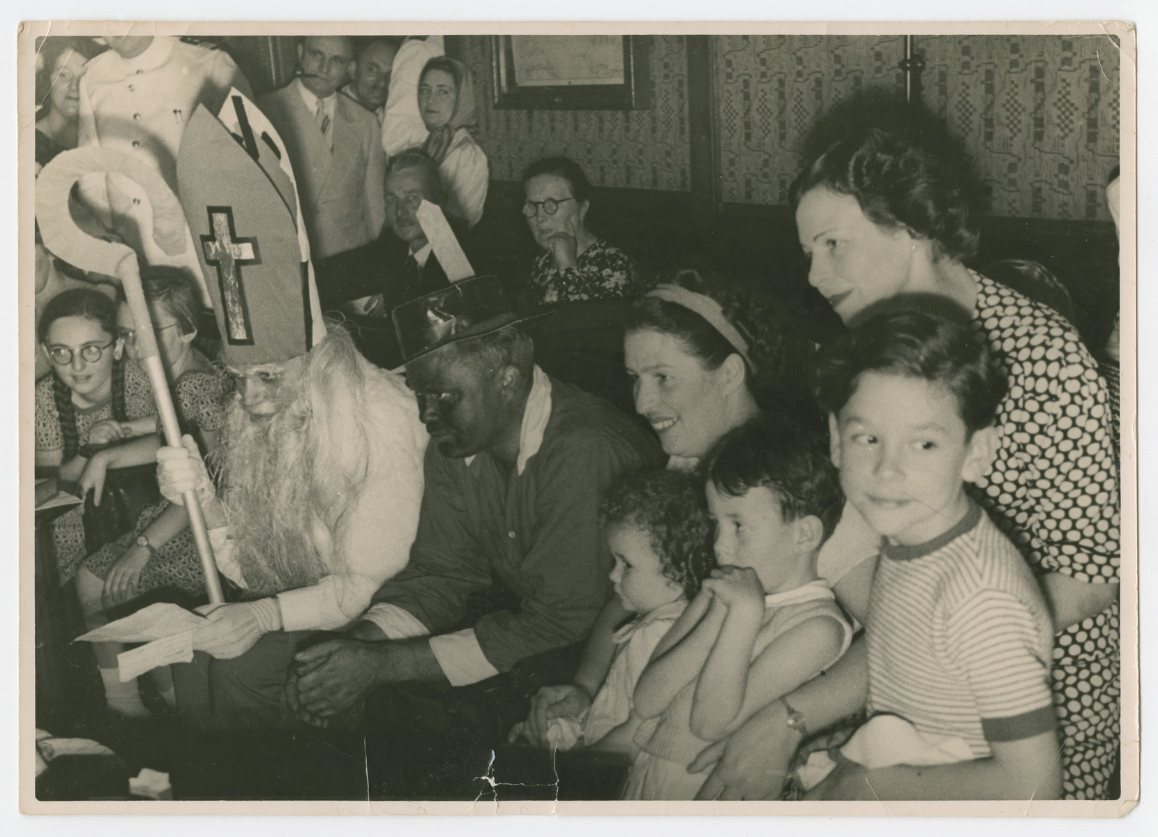 Refugees enjoy holiday entertainment while en route to Trinidad aboard the Simon Bolivar.