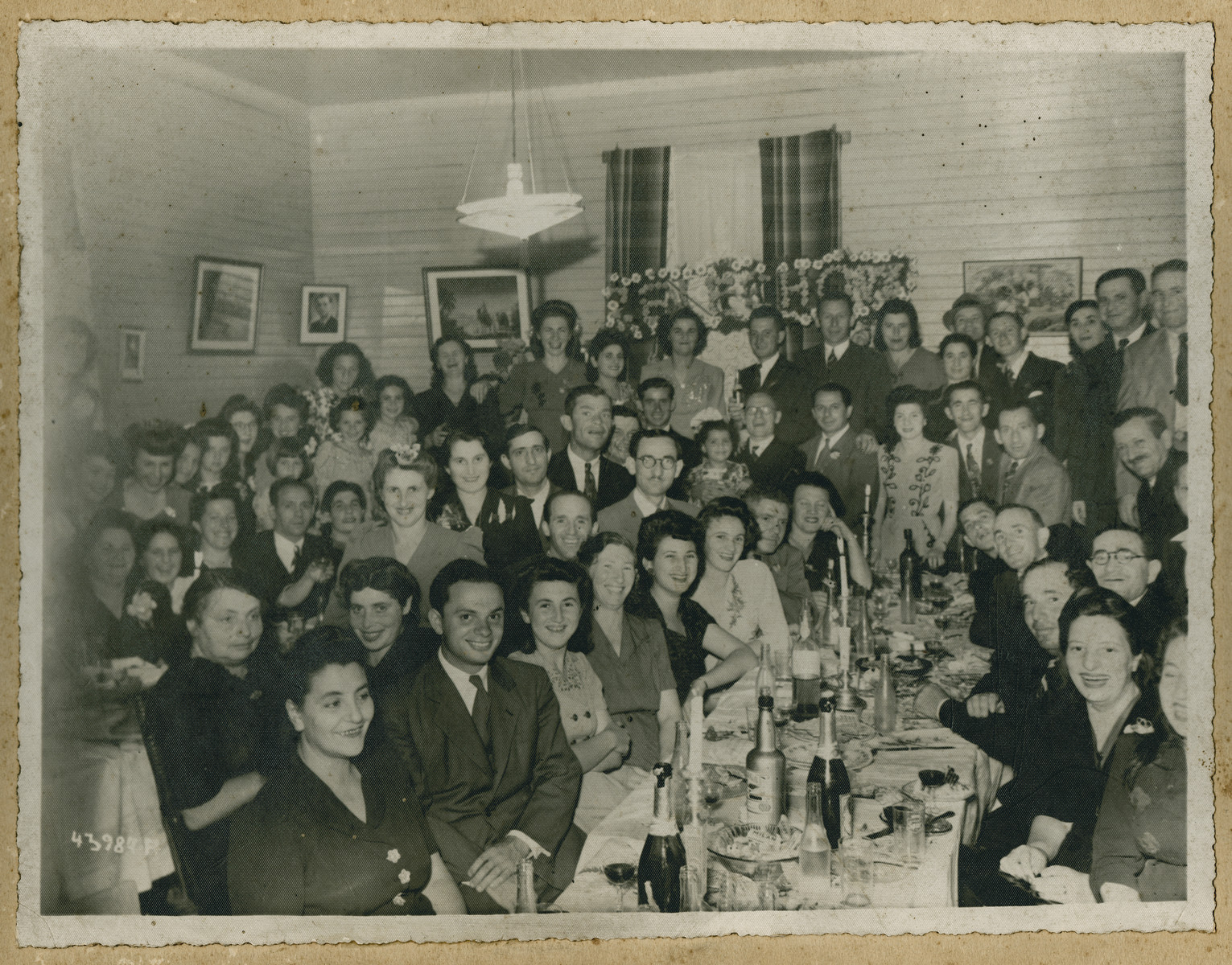 Social gathering of recent Jewish immigrants to Costa Rica.