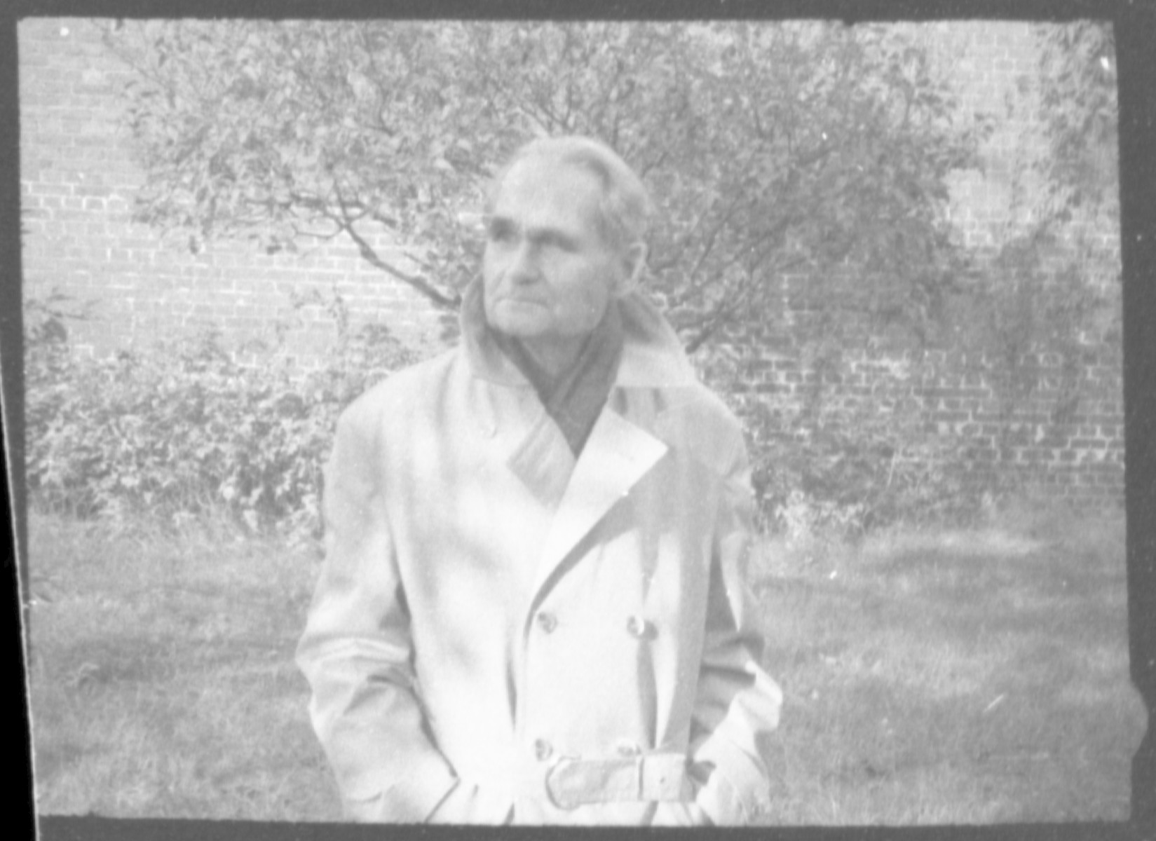 Close-up photographs of Rudolf Hess, in the garden of Spandau prison.