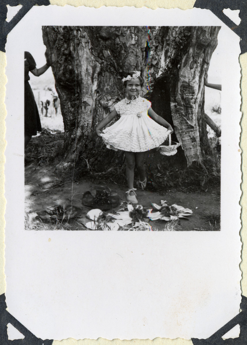 Astrid Mayer dances in a play of Snow White written by her mother in the Ferramonti internment camp.