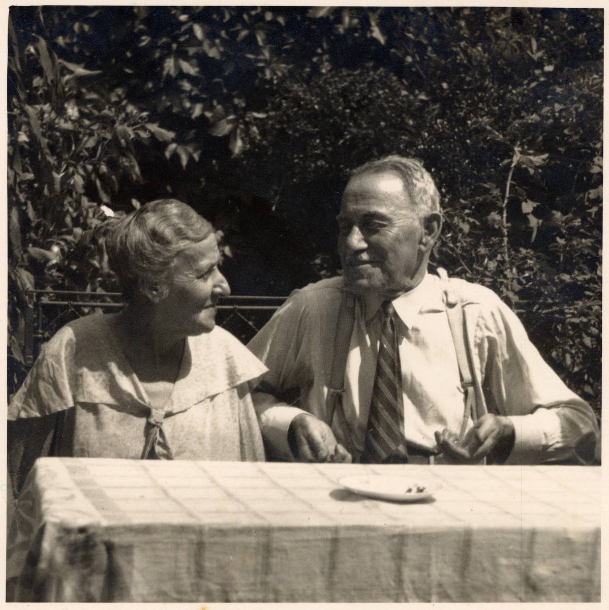 Close-up portrait of Gustav and Kaete Stoessler, grandparents of the donor.