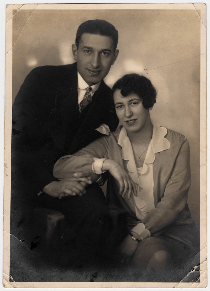 Engagement photograph of Julius Seligman and Rose Hirschfeld.