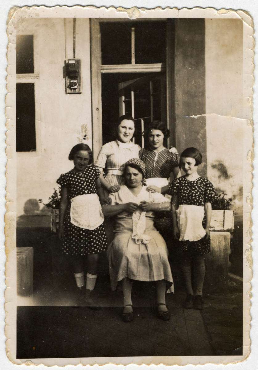 Erna Ganzl (far left) poses with her cousins Lily and Marta.  All perished in Auschwitz.