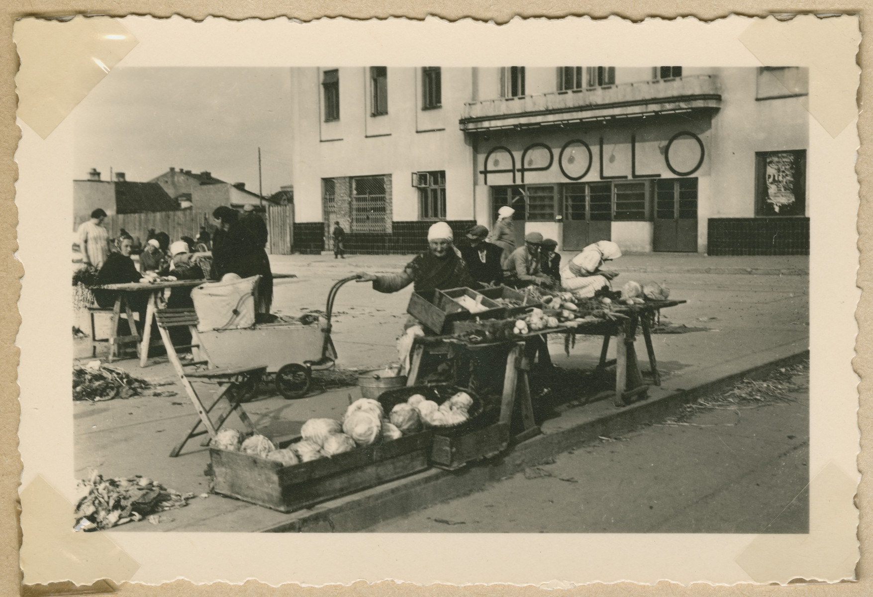 Polish farmers sell their produce in an outdoor market in Radom.