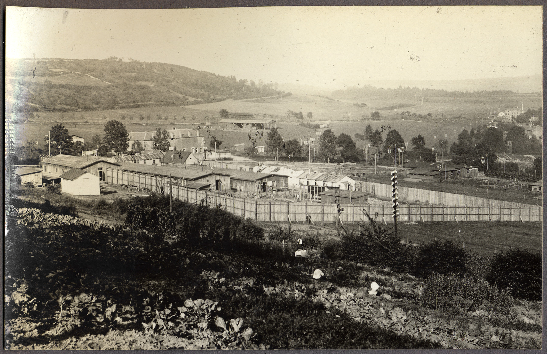 View of the POW camp at Montmedy, France where Walter Landé served as a German medical officer.