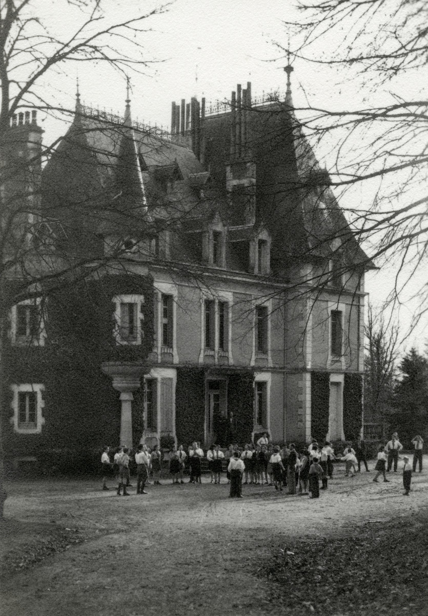 Exerior view of the Chateau Chantilly de Grand Champs, a postwar children's home.