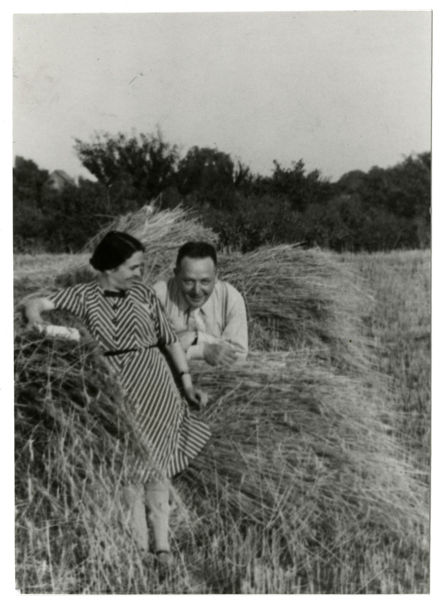 Klara and Louis Fenyves relax on their farm the summer before the German invasion.