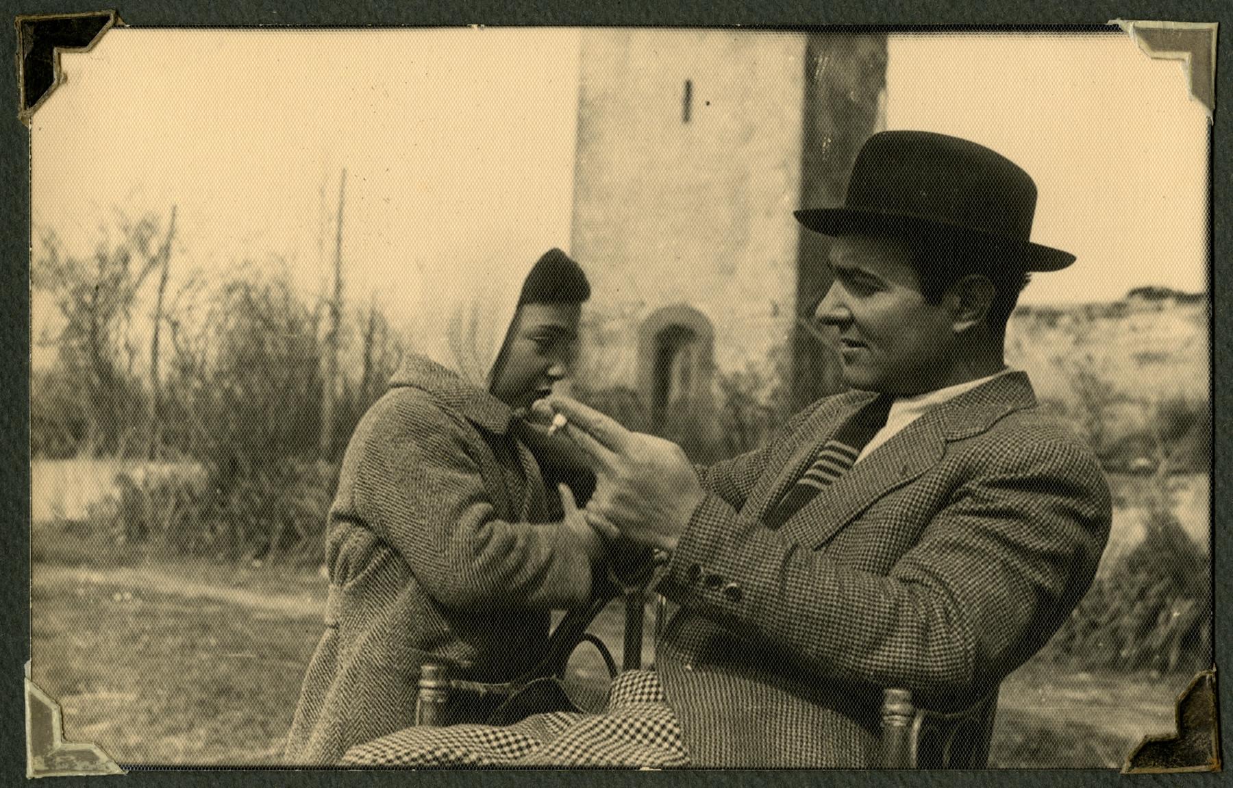 Romano Pelligrino  with his father Mario.