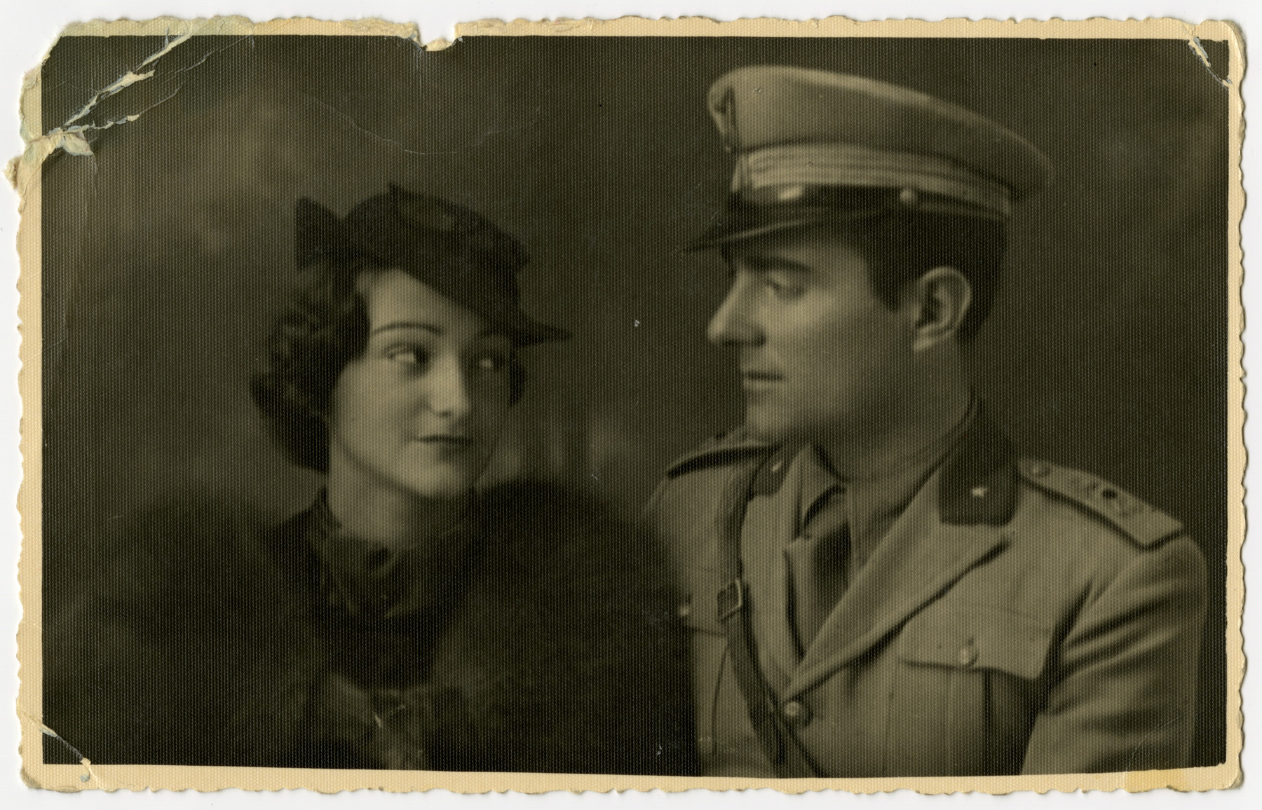 Studio portrait of Helga and Mario Pelligrino.