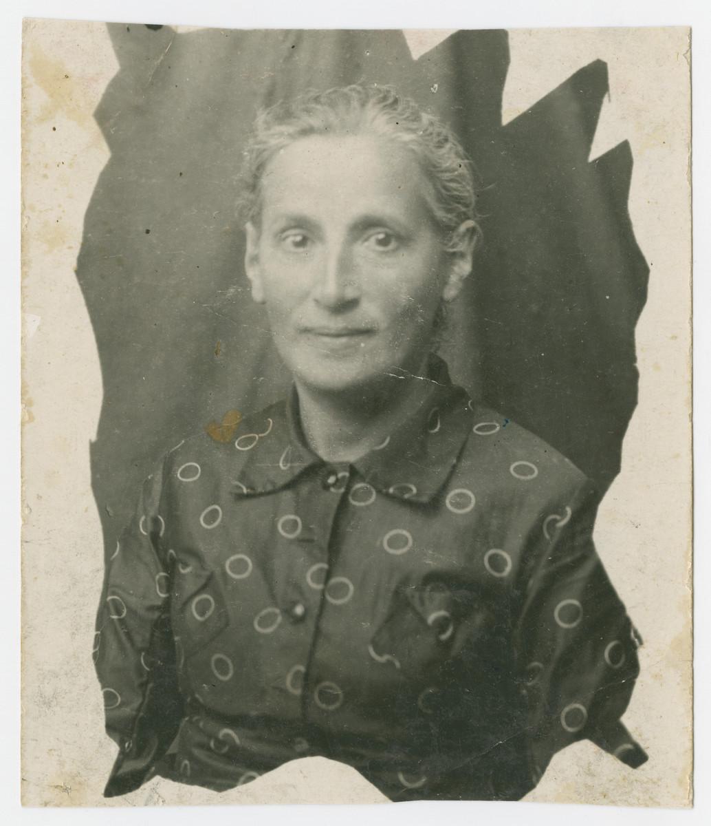 Portrait of Mirl Shmulevich.