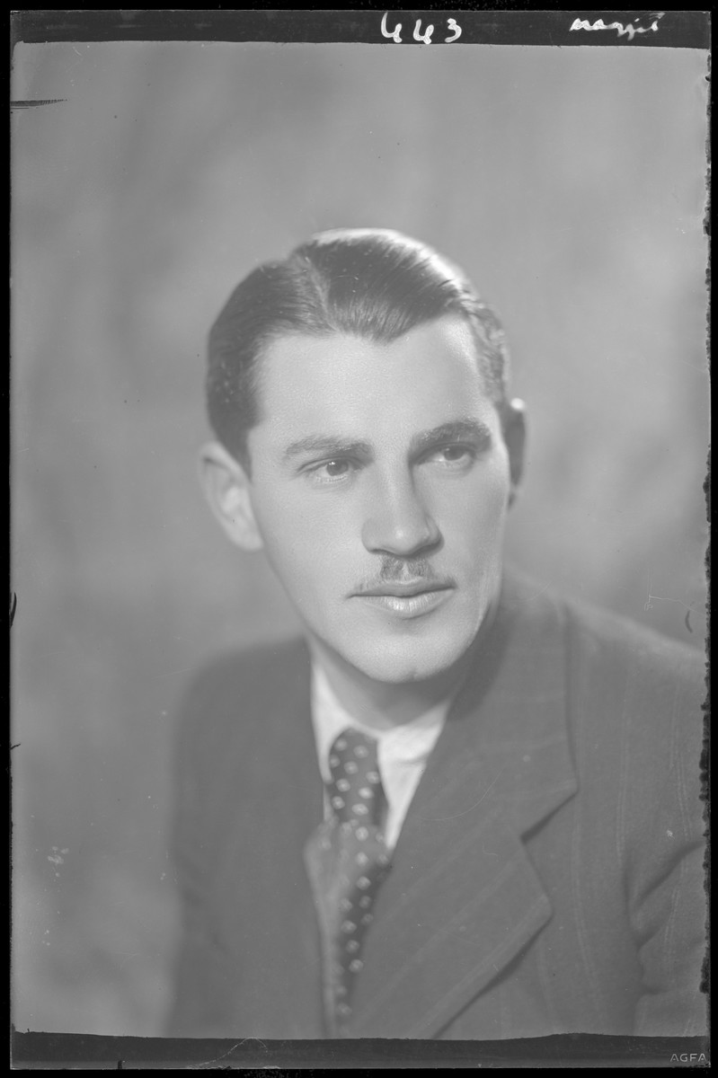 Studio portrait of Erne Friedman.