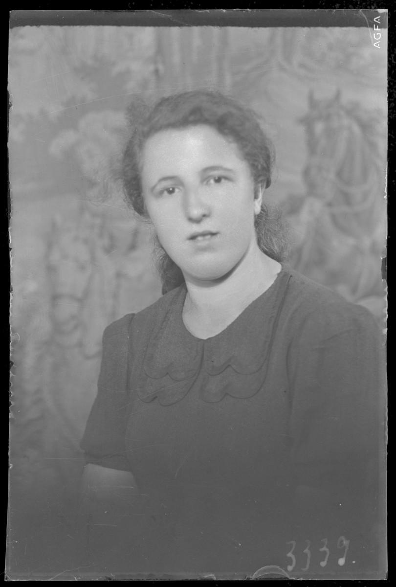 Studio portrait of Helen Frindler.