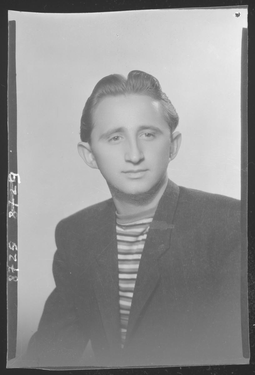Studio portrait of Zoltan Grunfeld.