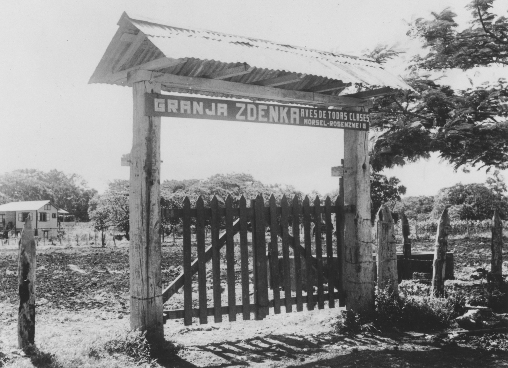 Entrance to Marek Morsel's farm in the Sosua Jewish refugee colony.  The farm was called Granja Zdenka for his wife.