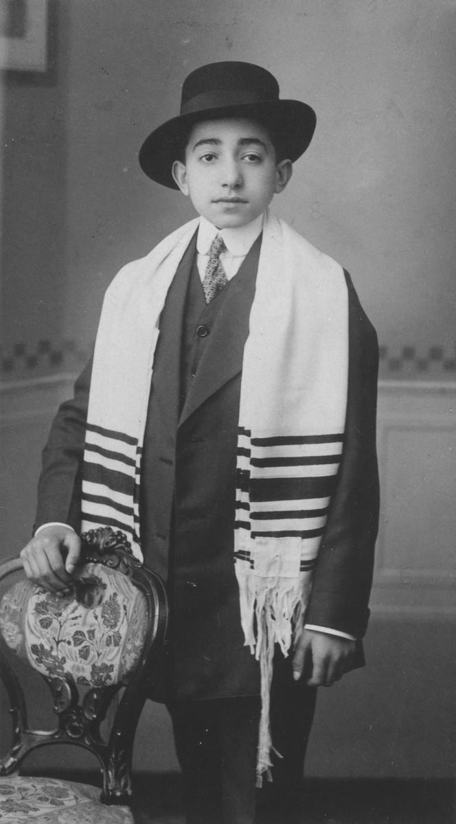 Bar mitzvah portrait of Robert Zarnicer.