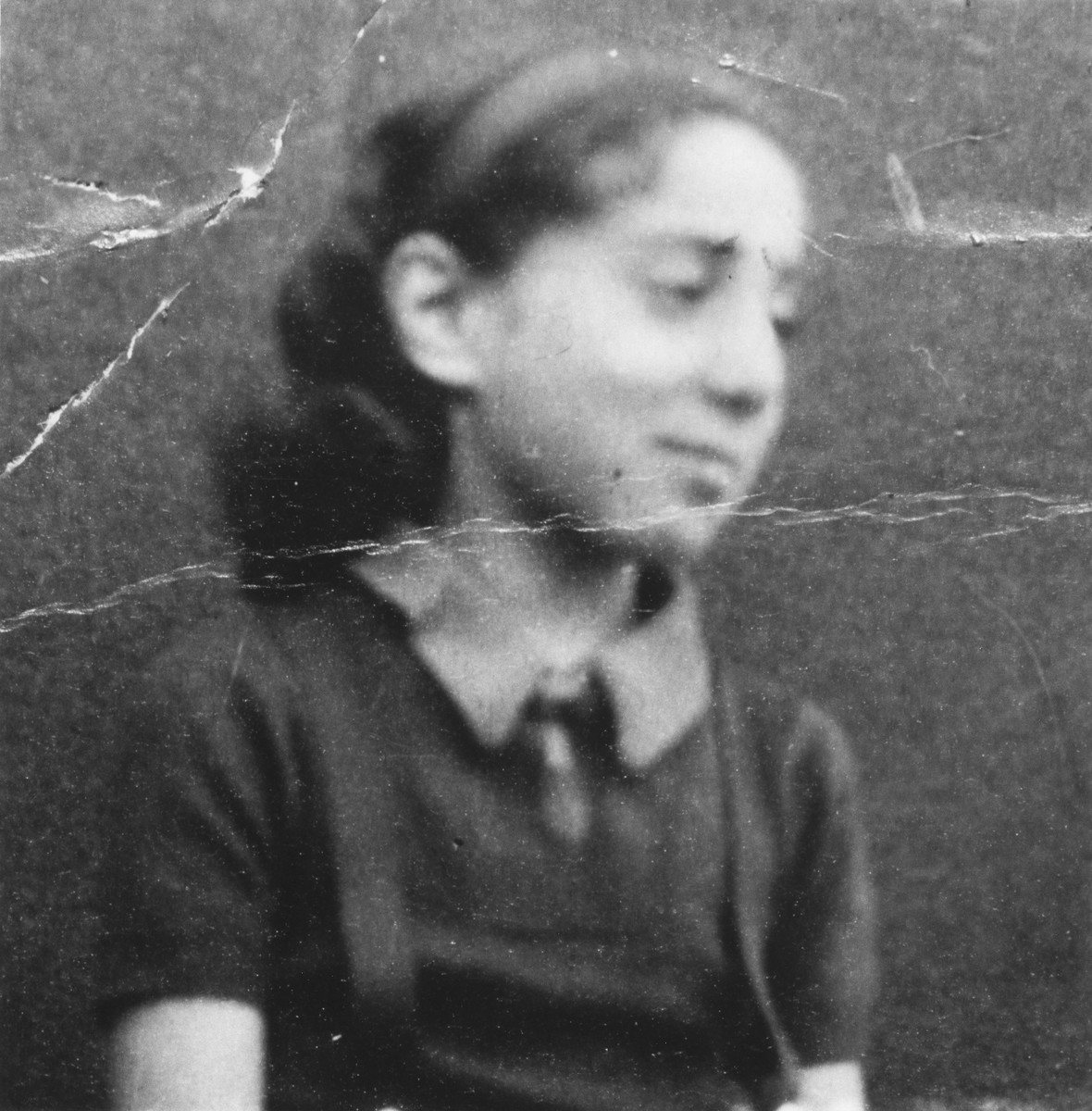 Identification card photograph of Ruth Zarnicer taken in the Gurs internment camp.