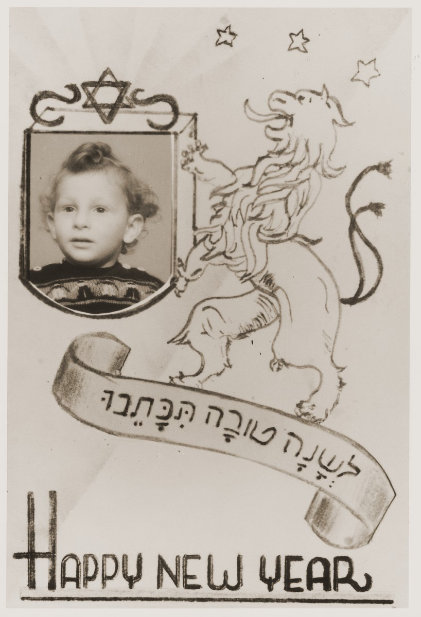 Jewish New Year's card from Henry Leikach.