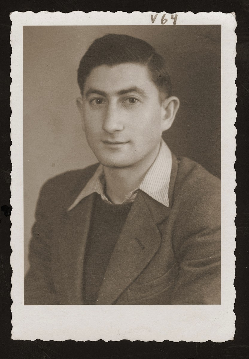 Portrait of Morris Rosen, the donor, in the Weiden DP camp.