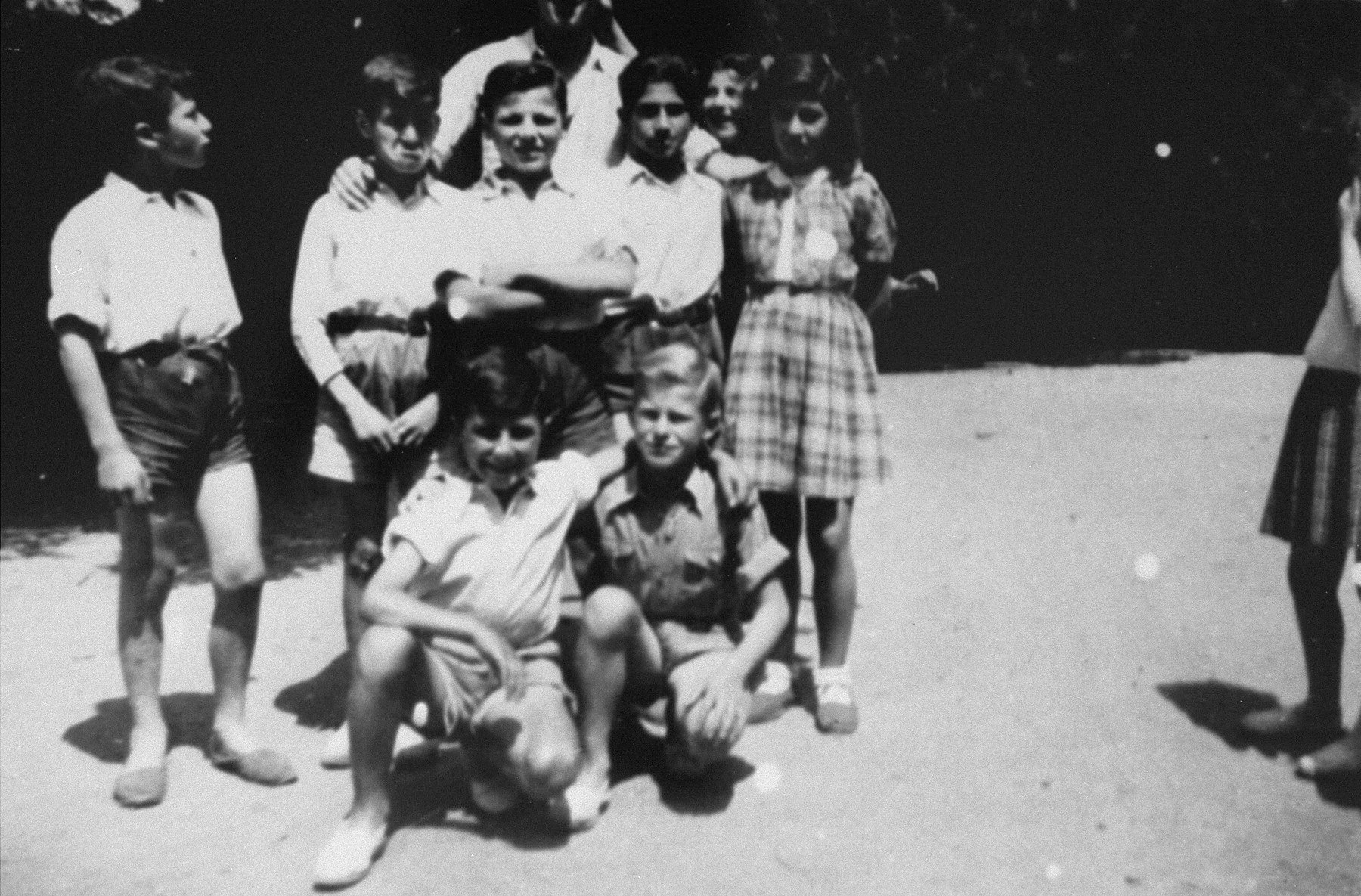 Jewish children at the OSE home in Draveil.