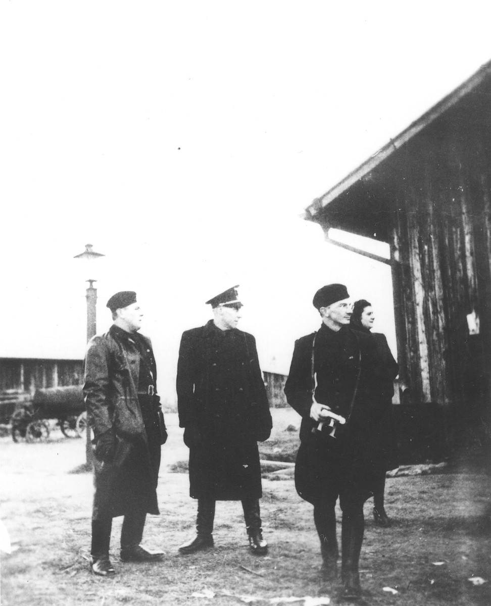 Slovak personnel in the Novaky labor camp.
