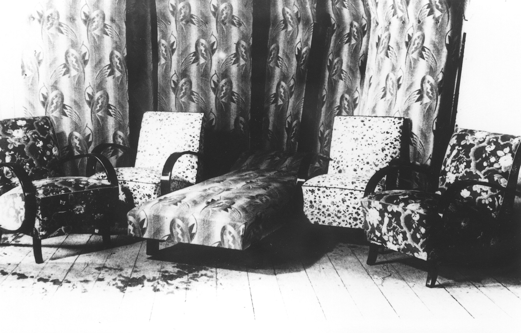 Furniture upholstered by prisoners in the Novaky labor camp.