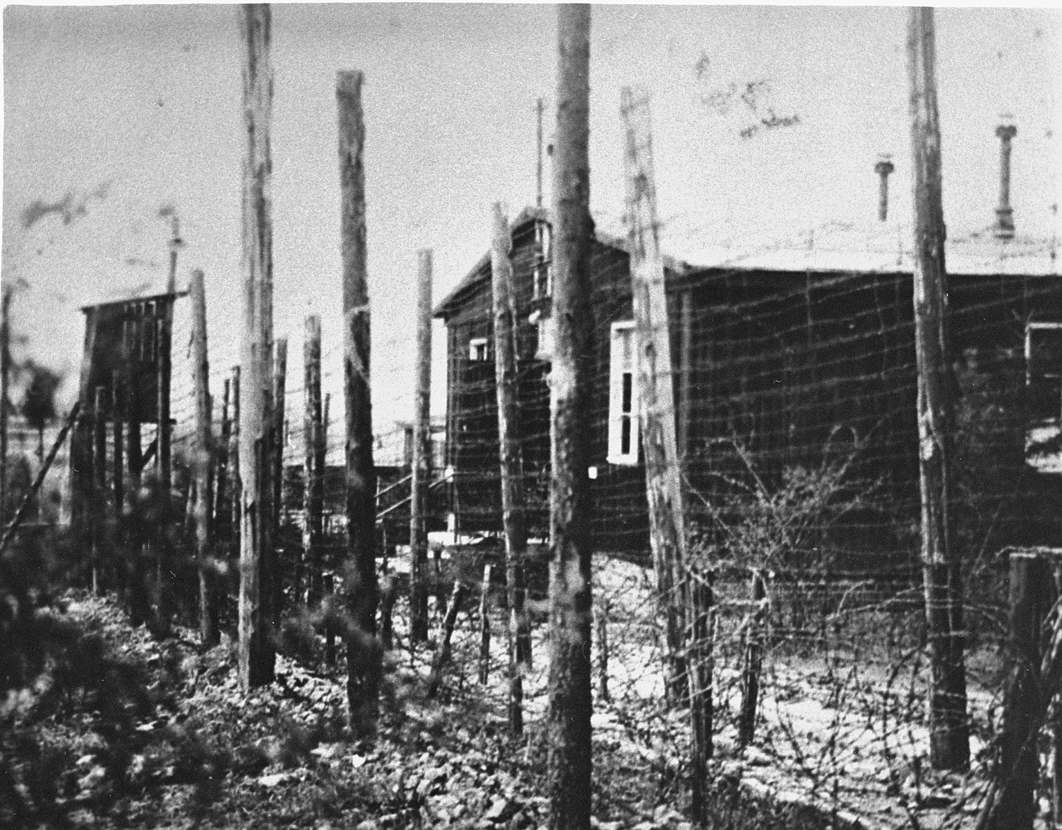 A section of the Ohrdruf concentration camp.