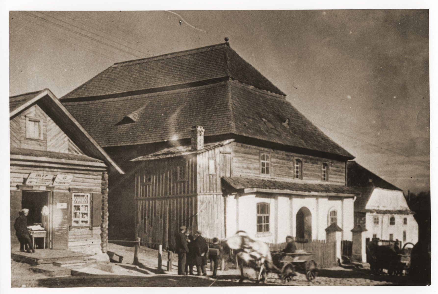 Exterior of the synagogue in Glebokie, Poland.