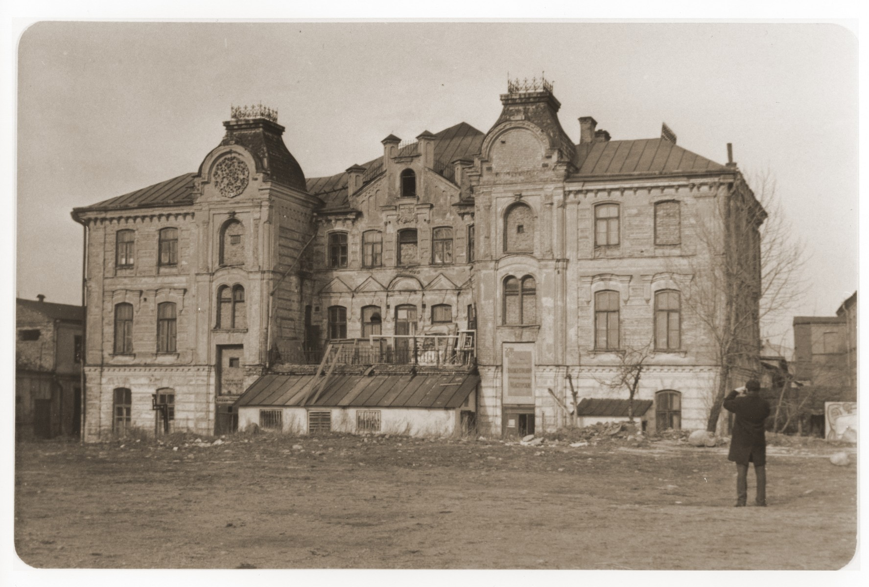 Exterior of the Grodno synagogue.