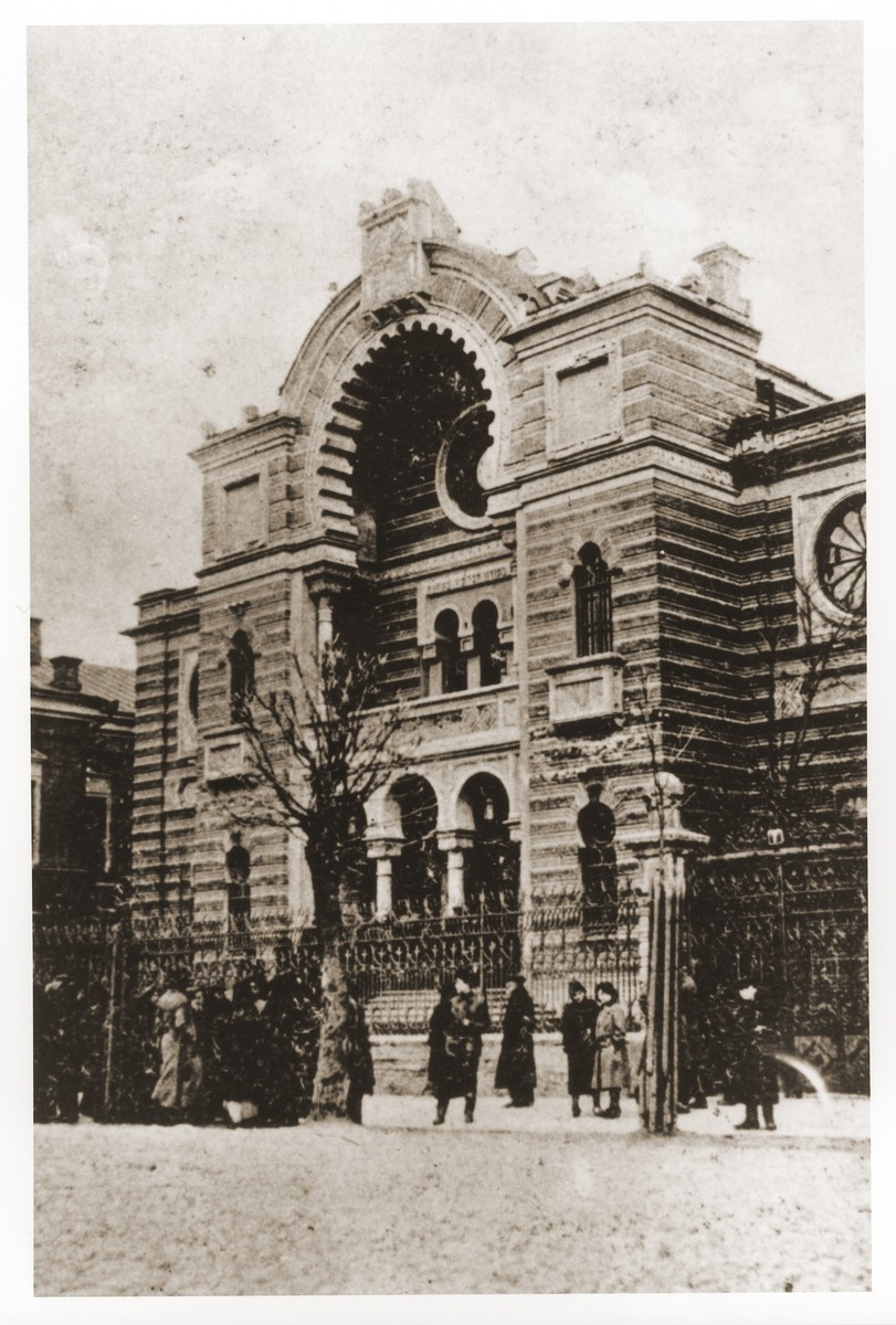 Exterior of the Minsk synagogue.