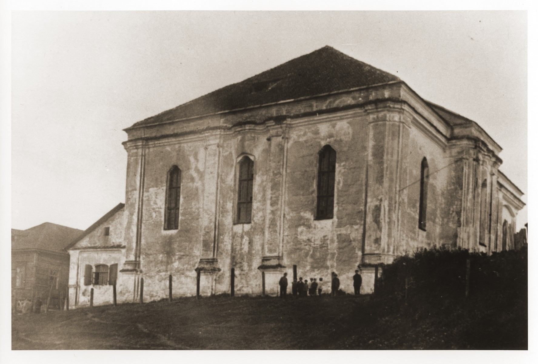 Exterior of the synagogue in Druja, Poland.