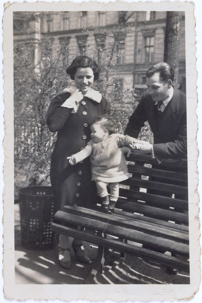 Maier and Brandla Flamberg with her daughter Fella in a park in Berlin.
