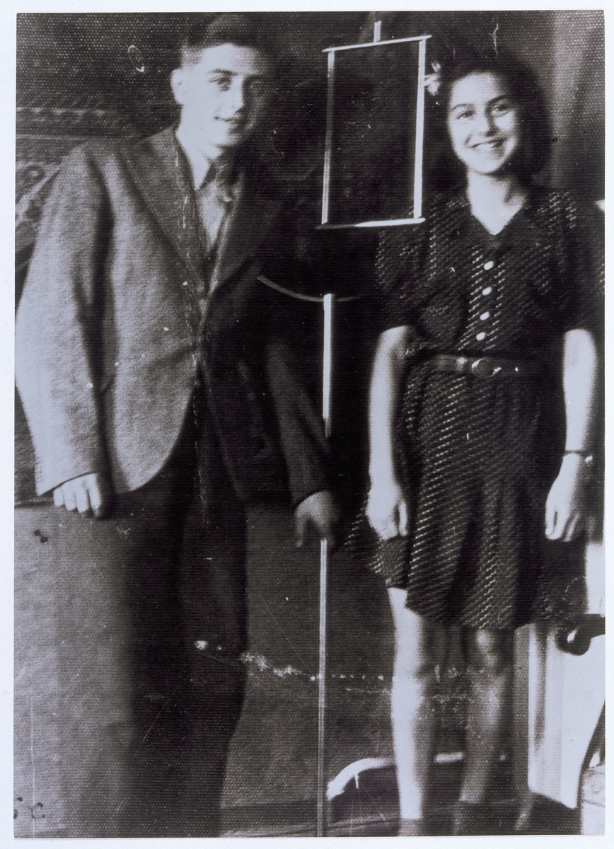 Siunek Fischer and Nelly Toll.  Siunek Fischer was a Jewish orphan taken in by Nelly's family after the war.