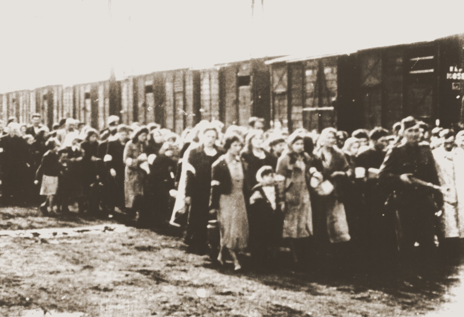 Jews during an unidentified deportation action.