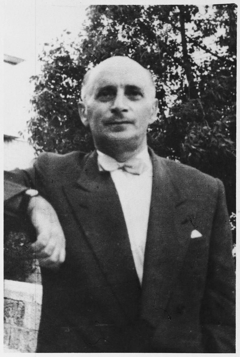 Portrait of Jewish musician Michael Hofmekler in Munich.