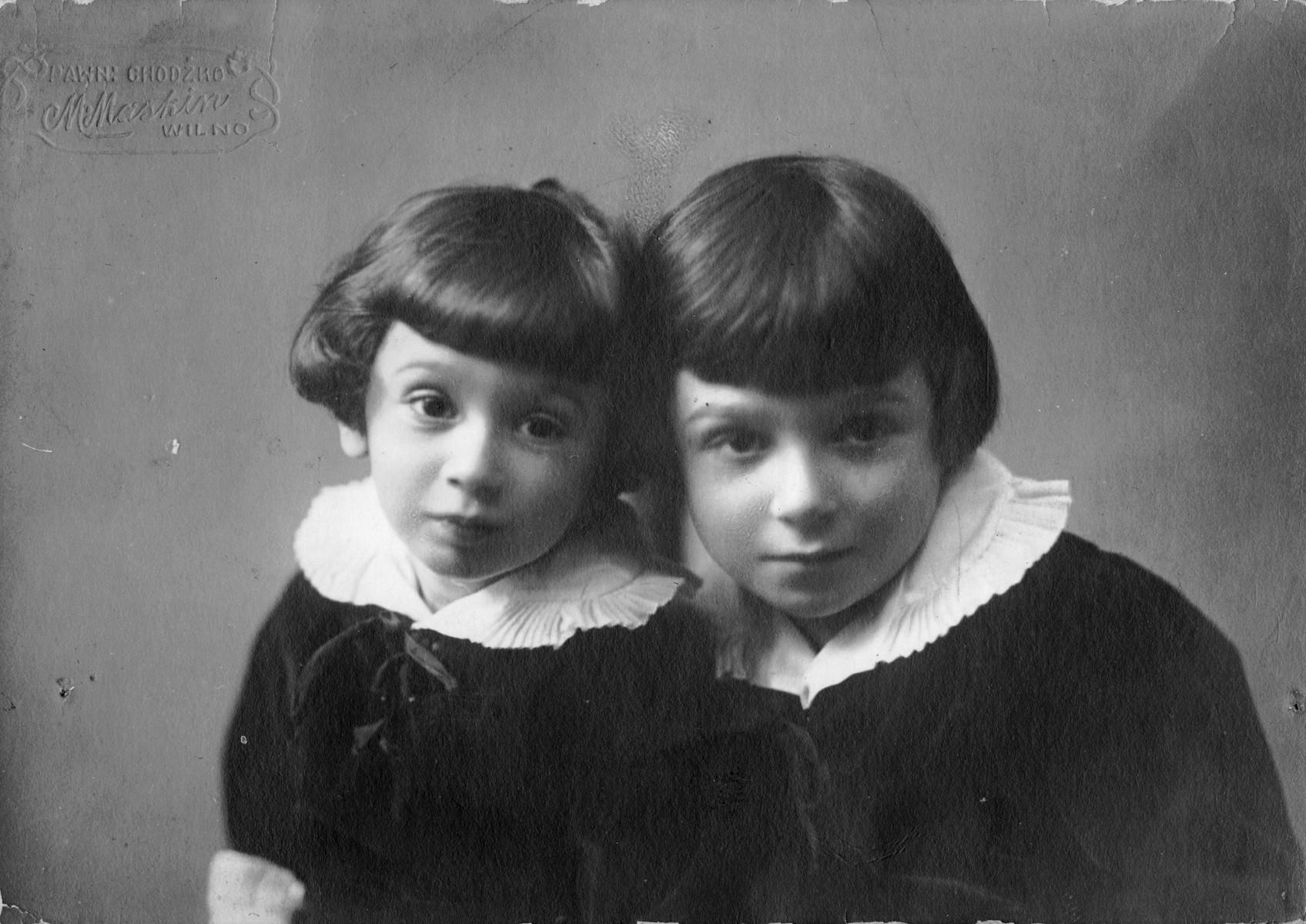 Studio portrait of Alexander and Gabriel Sedlis.
