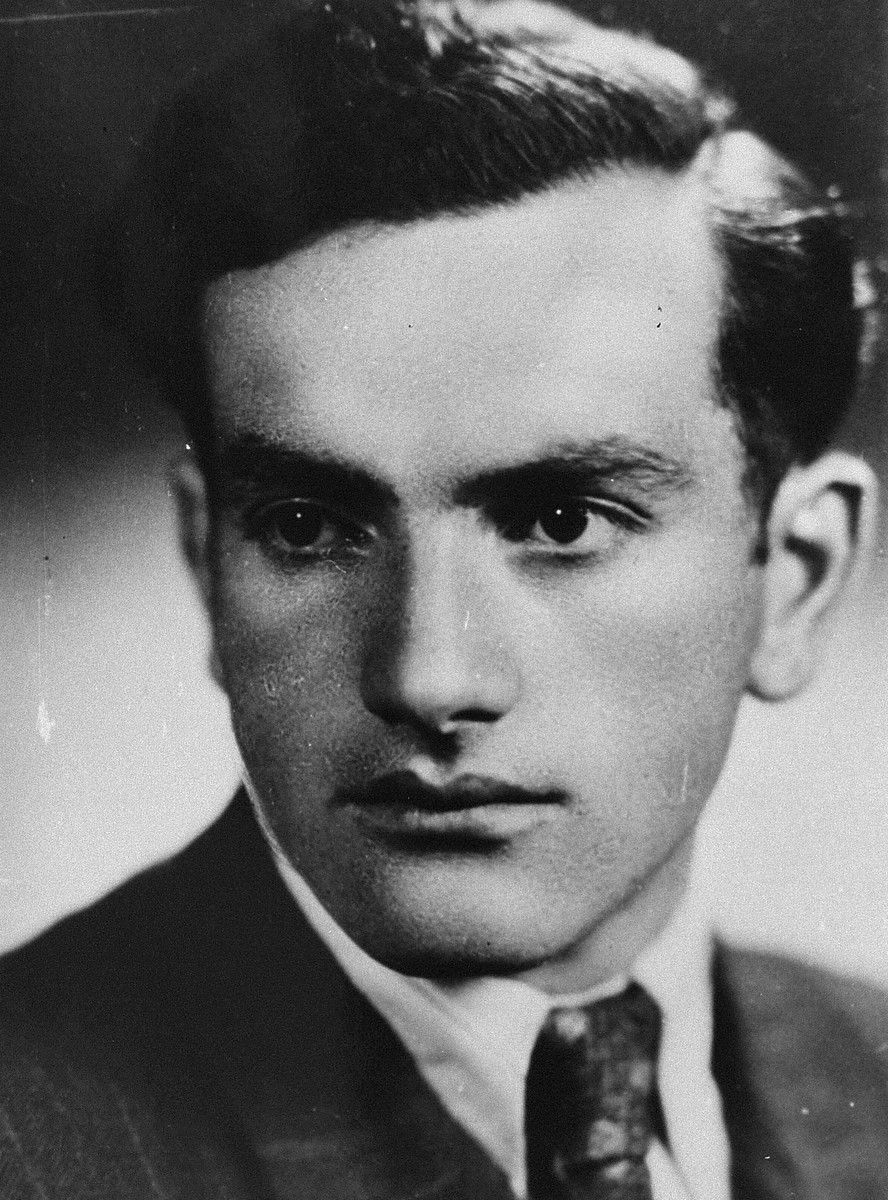 Portrait of Alter Henoch Faitelson, a participant in the Christmas 1943 escape from Fort IX.