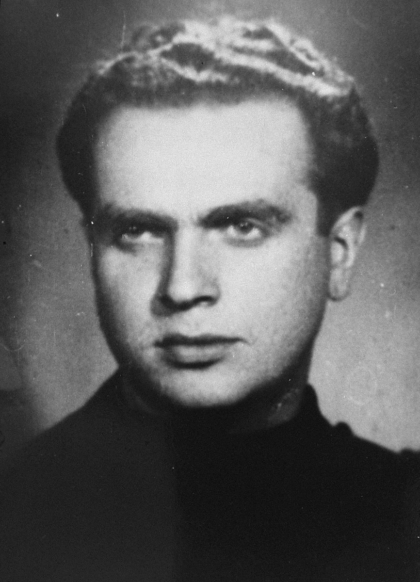 Portrait of Aharon Vilentschuk, a participant in the Christmas 1943 escape from Fort IX.