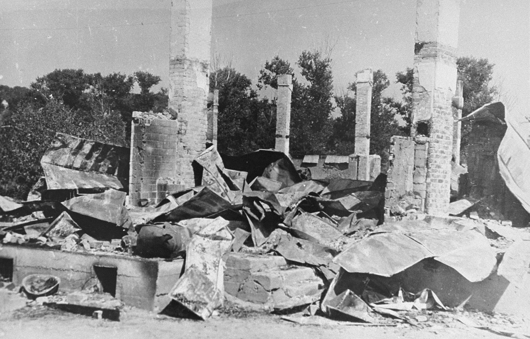 Ruins of the Kovno ghetto.