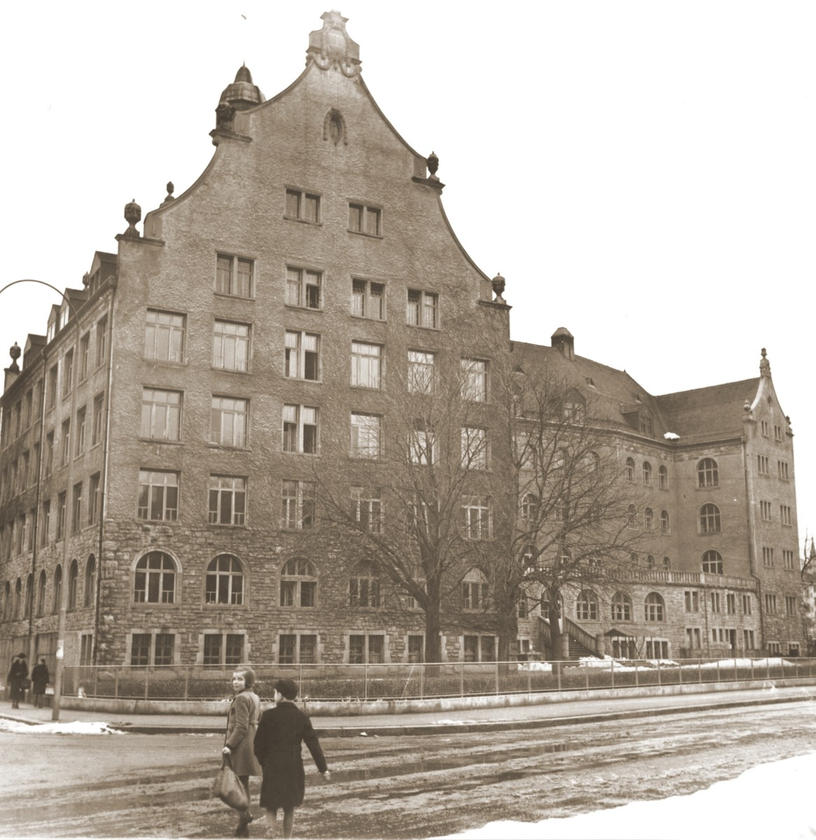 View of the Hadwigschulhaus in St. Gallen that served as a reception center for Jews released from Theresienstadt.
