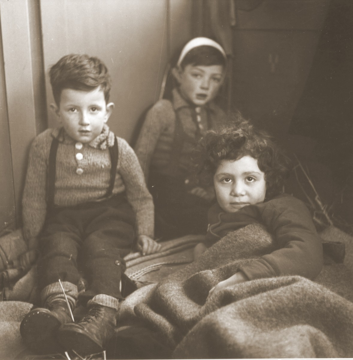 Three Jewish children rescued from Theresienstadt  rest in the Hadwigschulhaus in St. Gallen.