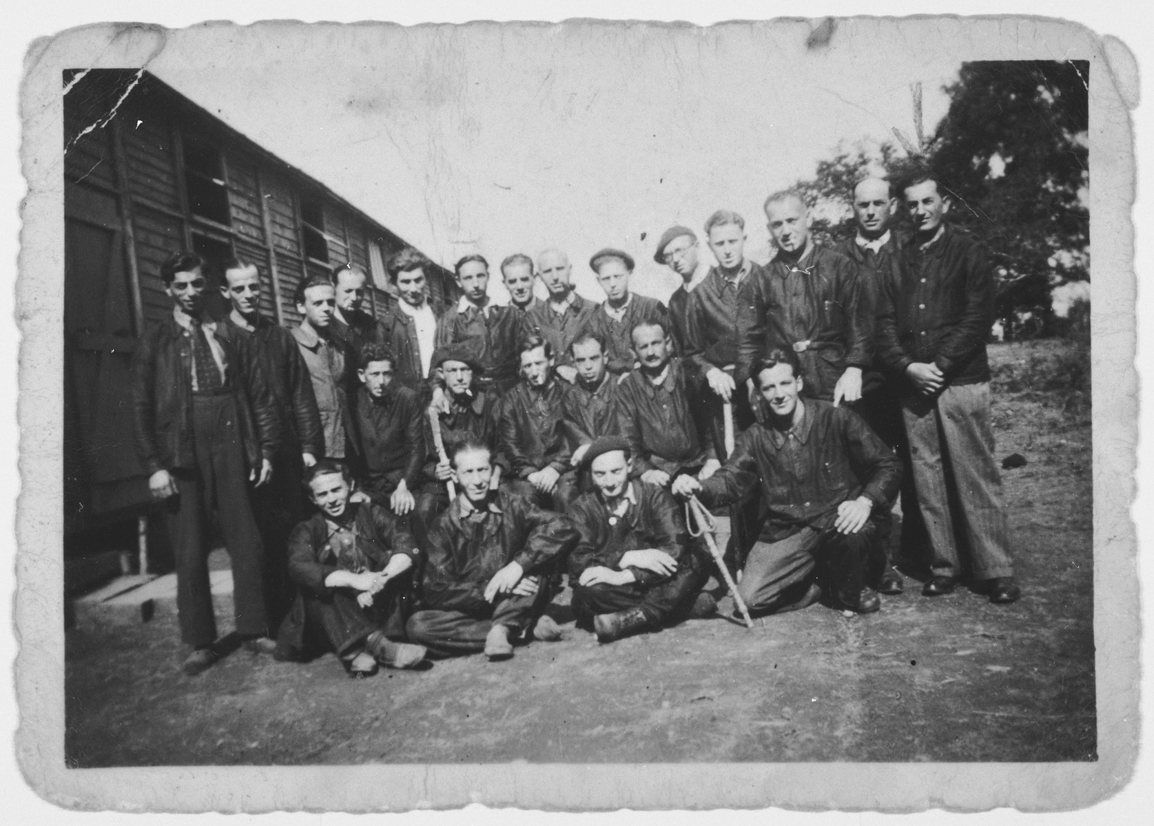 Prisoners in the Le Vernet transit camp.  Among those pictured is Joseph Schlanger (b. 2/18/05) who perished after being deported from Drancy in 1943.