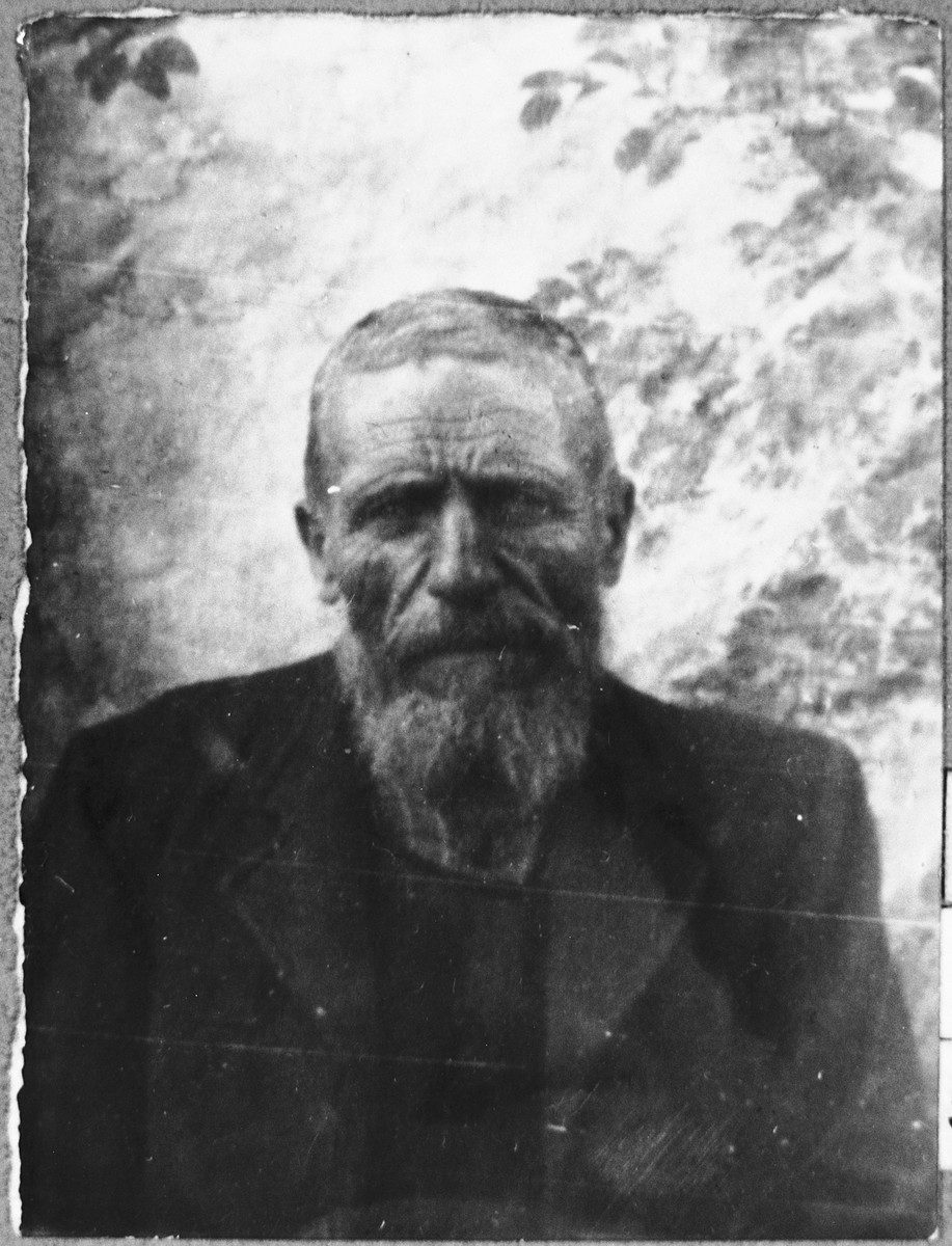 Portrait of Rachamin Koen.  He lived at Karagoryeva 95 in Bitola.