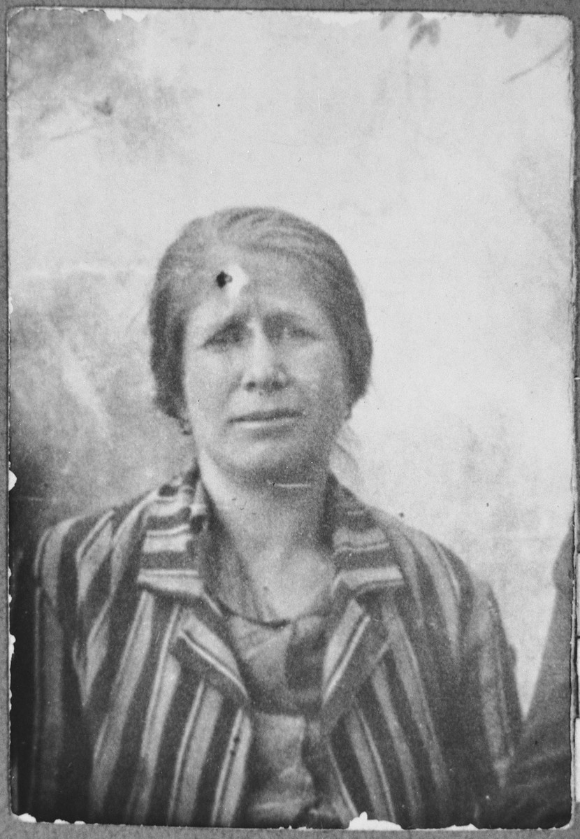 Portrait of Rekula Levi, wife of Todoros Levi.  She lived at Zmayeva 5 in Bitola.