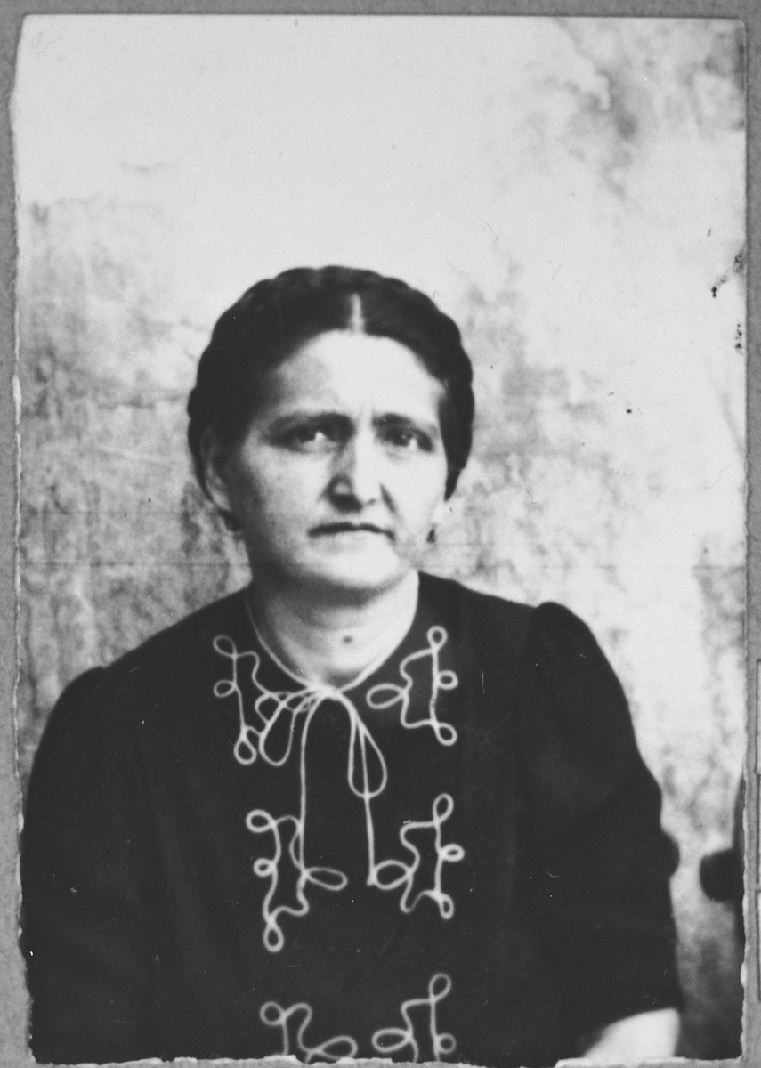 Portrait of Flor Levi, wife of Rafael Levi.  She lived at Karagoryeva 105 in Bitola.