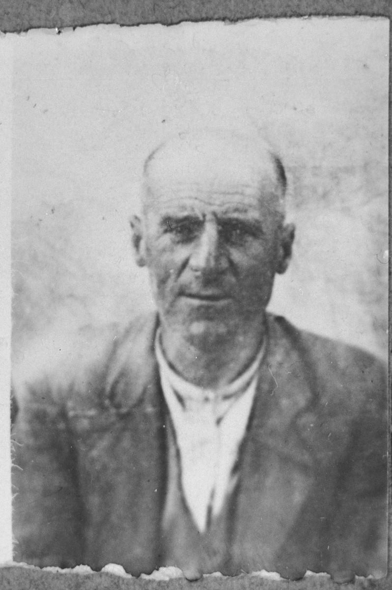 Portrait of Avram Levi.  He was a second-hand dealer.  He lived at Novatska 23 in Bitola.