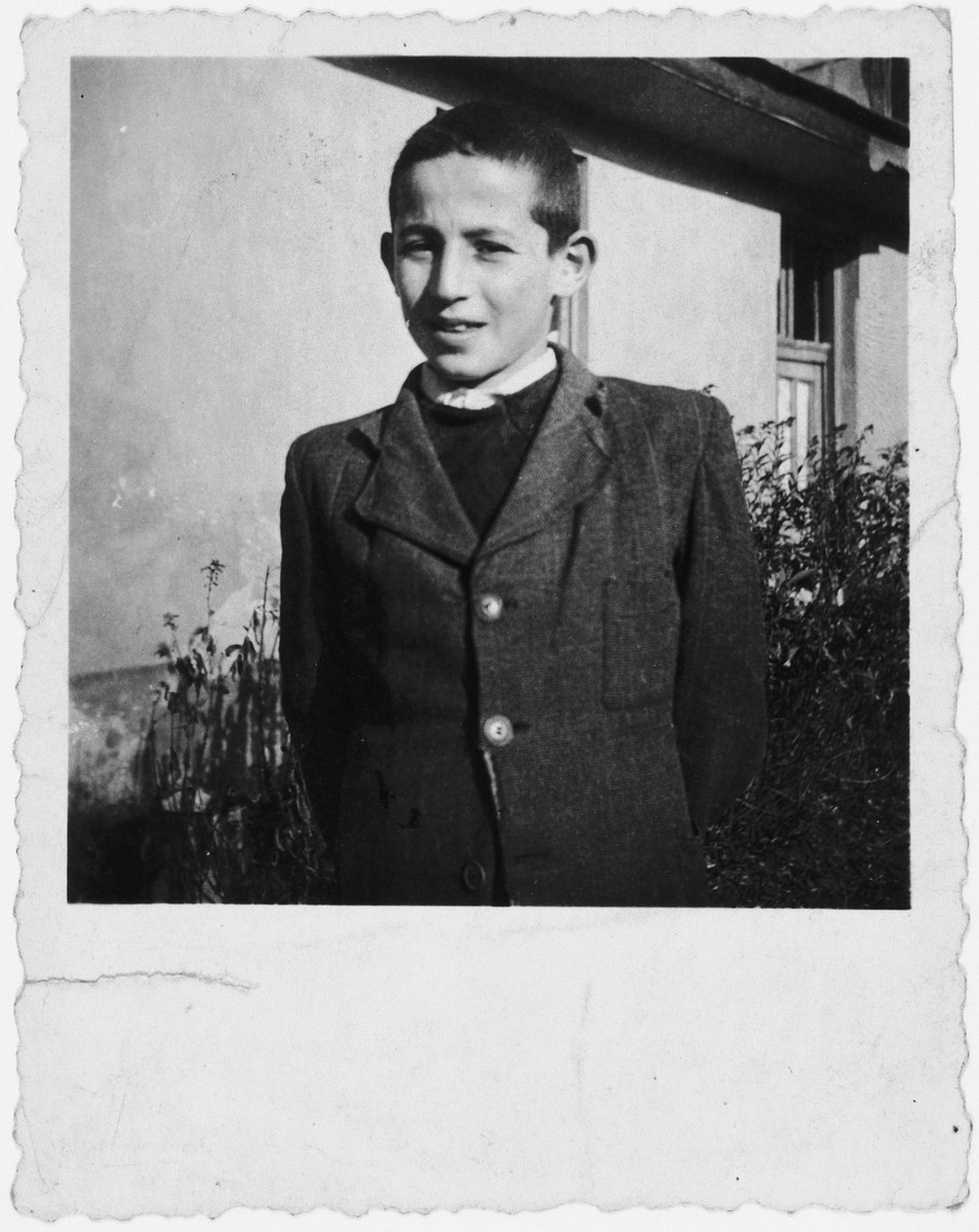 Tibor Ornstein stands in front of his home only a year or two before he was killed in Auschwitz.