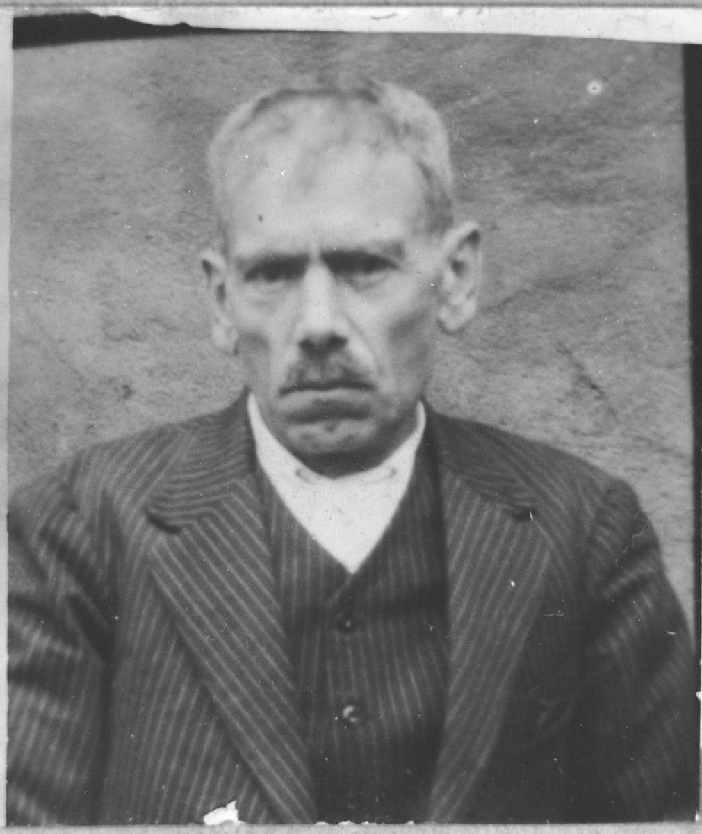 Portrait of Mati Levi.  He was a milkman.  He lived at Ferizovatska 30 in Bitola.