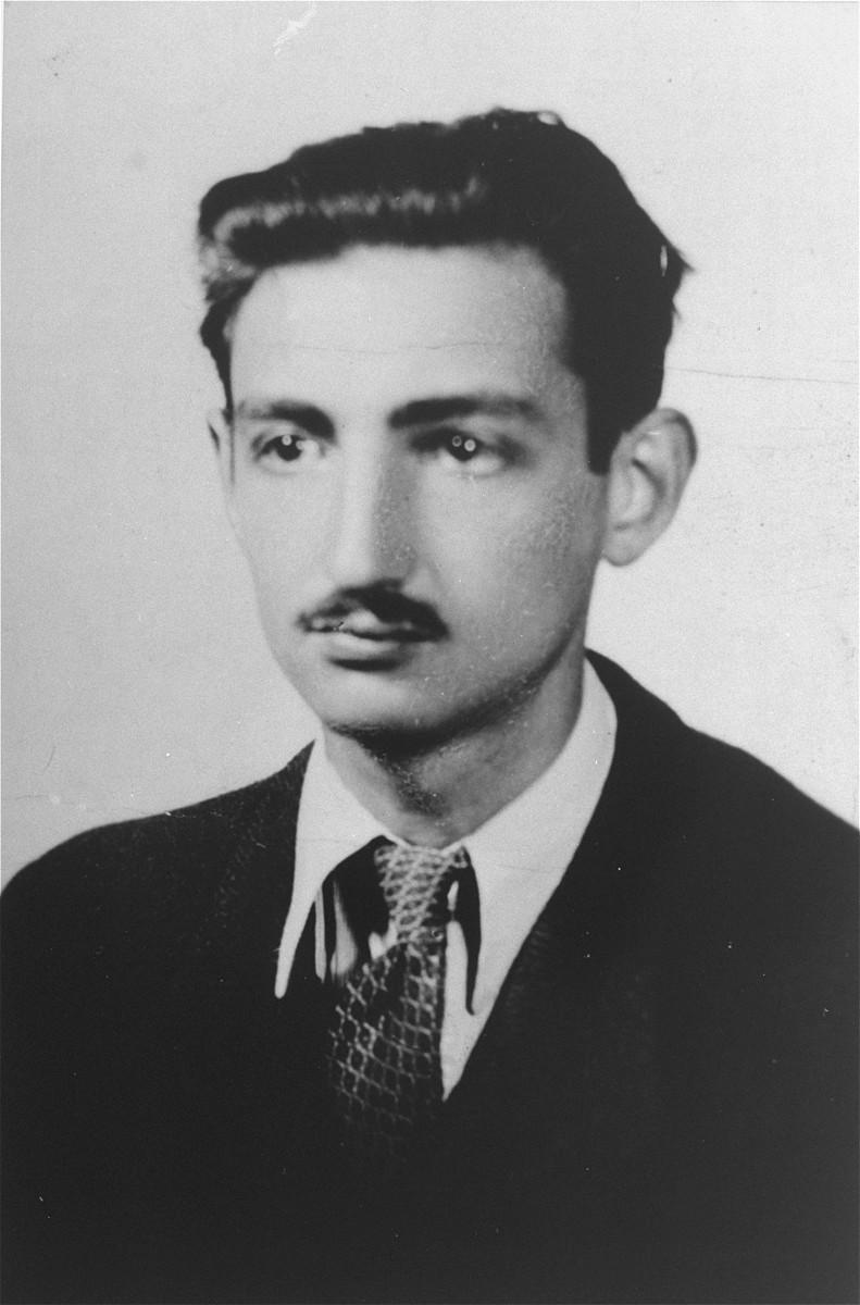 Portrait of Marek Edelman, member of the Jewish underground in the Warsaw ghetto.