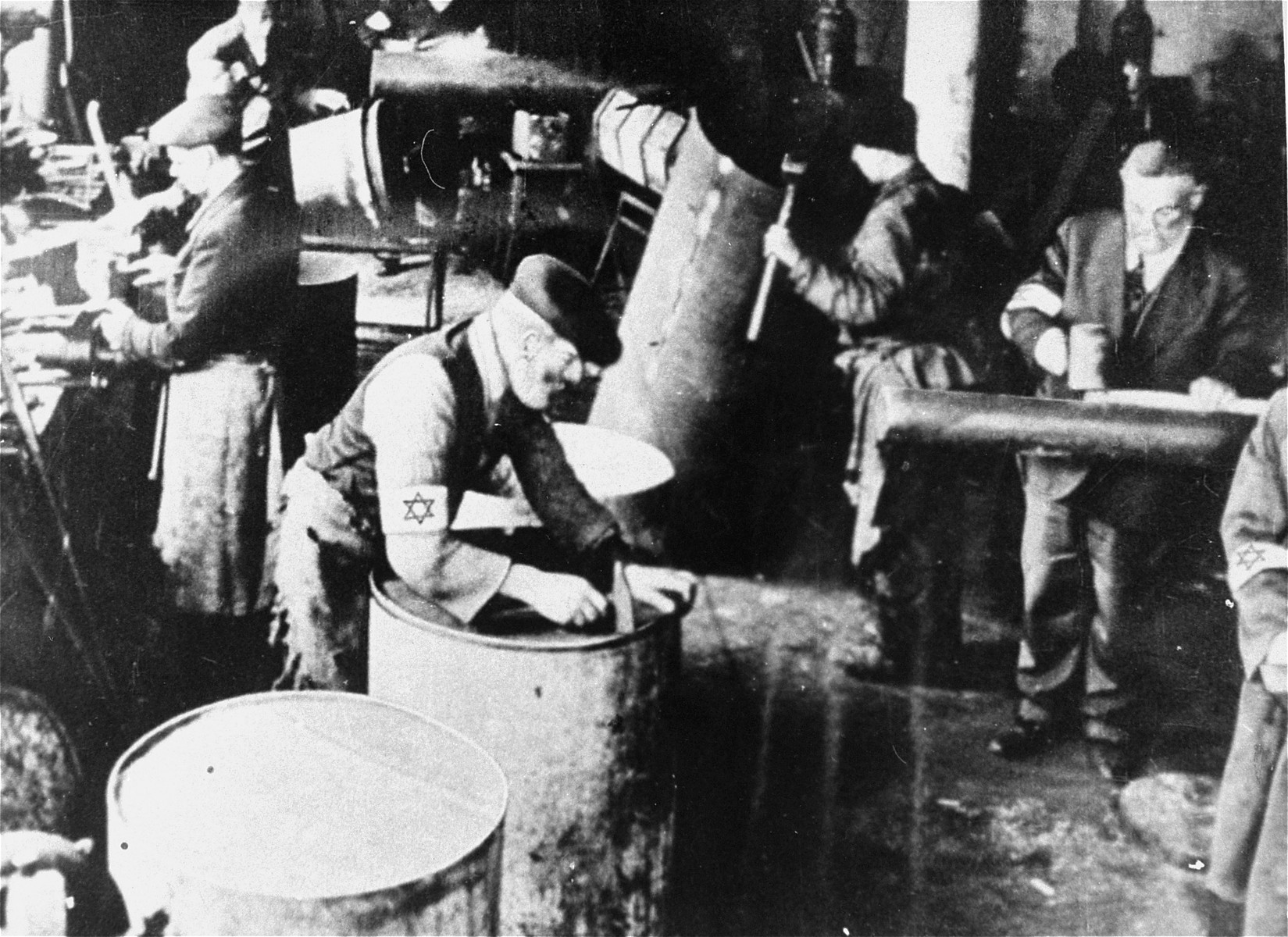 A workshop in the Warsaw Ghetto.